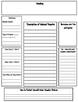 natural disasters research report  literacy centers  ela  science ccss