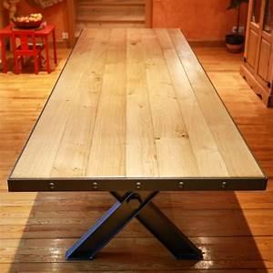 table salle a manger bois design 2 mobilier atelier With salle À manger contemporaineavec table a manger design bois