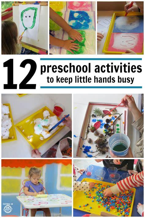 preschool activities    hands busy kids