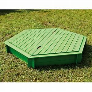 Bac à Sable Bois : bac sable bois trait hexagonal avec couvercle plantes ~ Premium-room.com Idées de Décoration