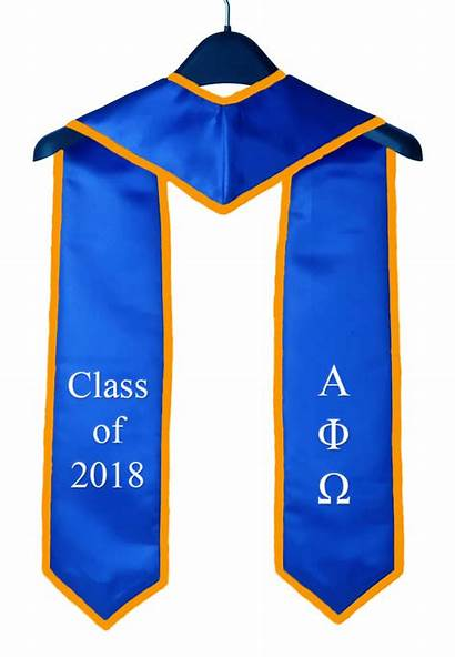 Stole Graduation Sjsu Alpha Phi Omega Royal