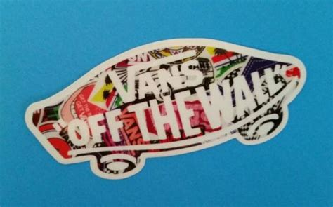 free vans neon sign off the wall sticker decal