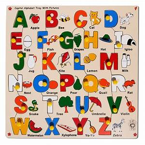 Skillofun capital abc alphabet puzzle with picture and for Alphabet letter puzzles