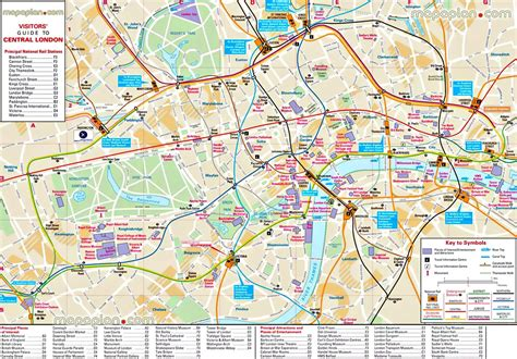 london attractions map map  london attractions england