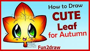 How to Draw Cute Autumn Maple Leaf - Easy Step by Step ...