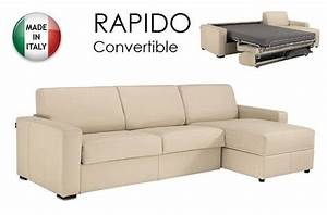 canape d39angle dreamer convertible ouverture rapido 140cm With canapé cuir convertible couchage quotidien