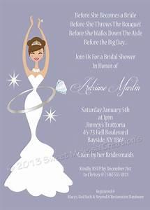 diamond wedding ring diva diy bridal shower invitation With wedding diva shower invitations
