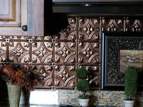 trendy  chic copper kitchen backsplashes digsdigs