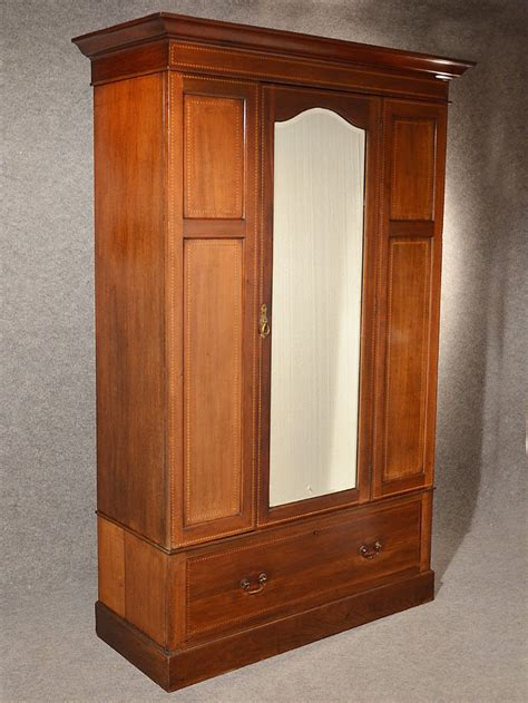 antique wardrobe armoire mirror door maple co quality