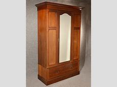 Antique Wardrobe Armoire Mirror Door Maple & Co Quality