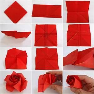 Origami Für Anfänger : origami rose anleitung origami rose origami und rosen ~ A.2002-acura-tl-radio.info Haus und Dekorationen