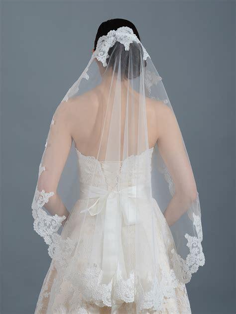 Ivory Wedding Veil Elbowfingertipchapel V032