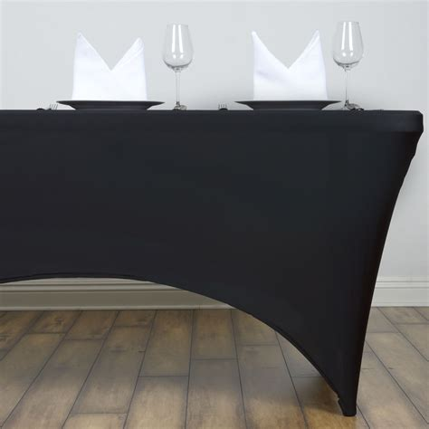 spandex table covers cheap 18 pcs 4 ft rectangle spandex stretch table covers fitted