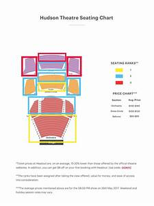 Hudson Theater Seating Chart