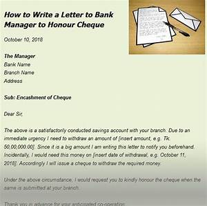Sample Letter Of Reference For Job How To Write A Letter To Bank Manager To Honour Cheque