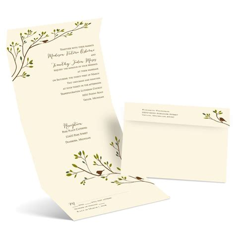 spring birds seal  send invitation anns bridal bargains