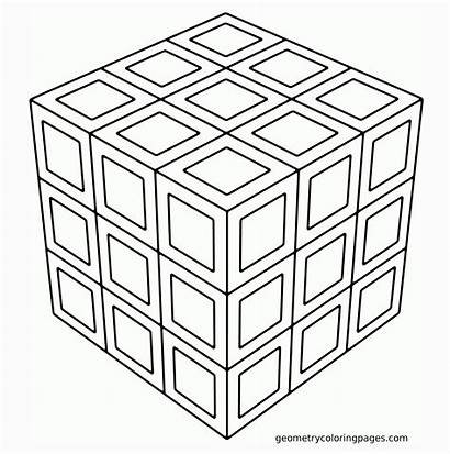 Coloring Geometric Pages Pattern Printable Designs Simple