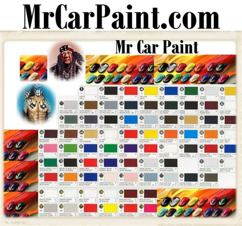 mr car paint com color charts tone mix codes touch up