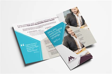 Marketing Free Tri Fold Psd Brochure Template By Digital Marketing Tri Fold Brochure Template In Psd Ai