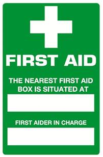 First Aid Signs Printable