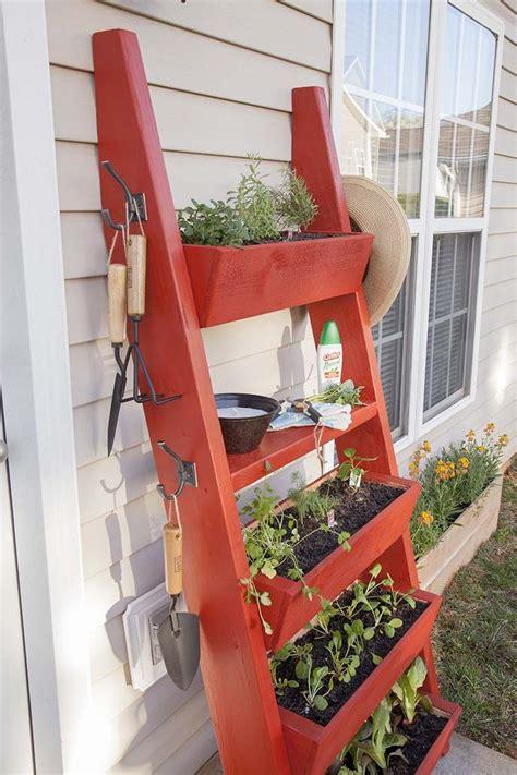 diy planter box ladder woodworking diy planters diy