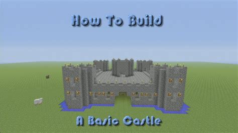 minecraft   build  basic castle step  step