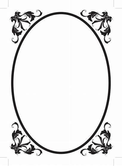 Oval Border Frame Clipart Filigree Clip Borders