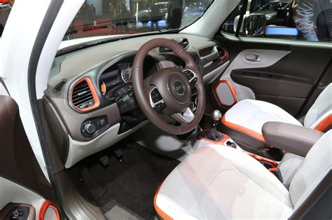 jeep renegade interior orange 2015 jeep renegade first look photo gallery motor trend