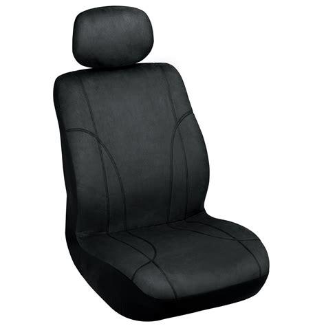 Elegant Usa Seat Cover Low Back Black Microsuede