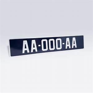 Plaque Immatriculation Voiture : plaque immatriculation noire aluminium pour voiture de ~ Melissatoandfro.com Idées de Décoration