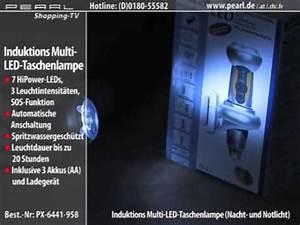 Led Taschenlampe Mit Ladestation : led akku taschenlampe mit kabelloser ladestation nacht und notlicht youtube ~ Buech-reservation.com Haus und Dekorationen