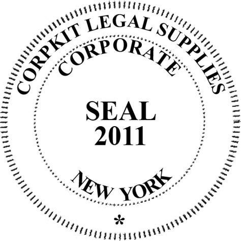 corporate seal template instant electronic digital company seal