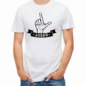 T Shirt Homme Blanc : t shirt homme blanc loser mayooo t shirts et accesoires cool pour gens cool ~ Melissatoandfro.com Idées de Décoration