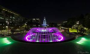 Los Angeles City Hall by Night from Grand Park 2, Los Ange ...
