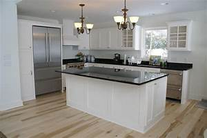 Custom Painted Bead Board Kitchen by Bergstrom Cabinets