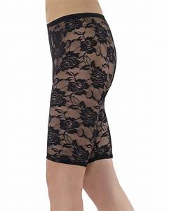 A566 Ladies 80u0026#39;s Cycling Shorts 1980u0026#39;s Disco Black Lace Leggings Fancy Costume