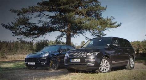 luxury suv test  range rover  porsche cayenne