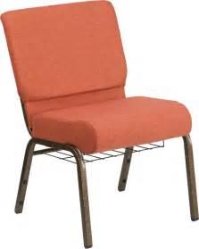 hercules series 21 w church chair in cinnamon fabric with
