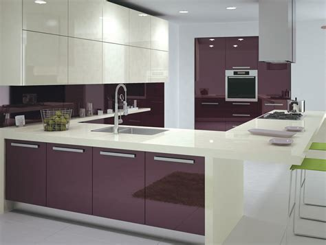 Kitchen Cabinet Storage Ideas - purple high glossy kitchen design ipc408 high gloss kitchen cabinet design ideas 2015 al