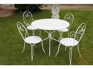 Table De Jardin Solde : salon de jardin fer forg pas cher ~ Teatrodelosmanantiales.com Idées de Décoration