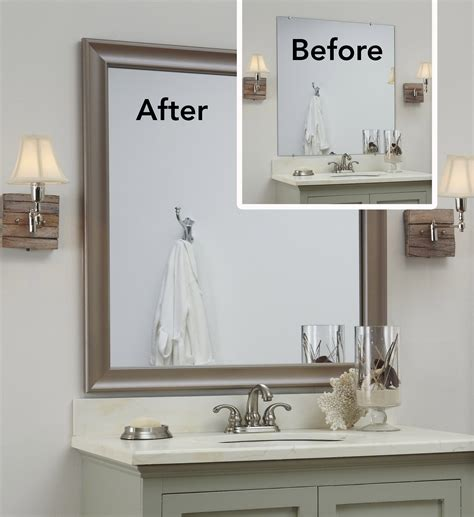 Bathroom Mirror Frame Ideas by The Quot Before Quot Is A Bare Plate Glass Mirror The Quot After Quot A