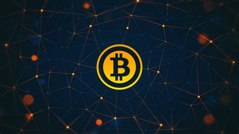 Gold Bitcoin Desktop Wallpaper With Connecting Nodes And