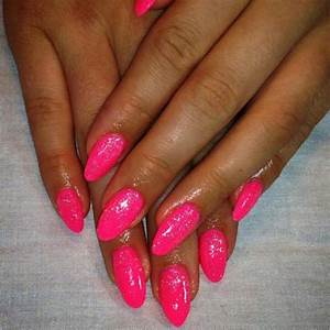 Image Gallery neon pink nails