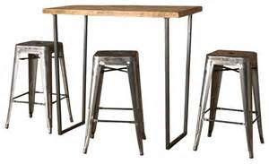 Brooklyn Bar Height Table, Natural, 84x36, Thick, Kitchen & Dining Room Tables,Wood, Steel, by Urban Wood Goods