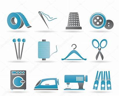 Textile Icons Industry Objects Vector Illustration Icon
