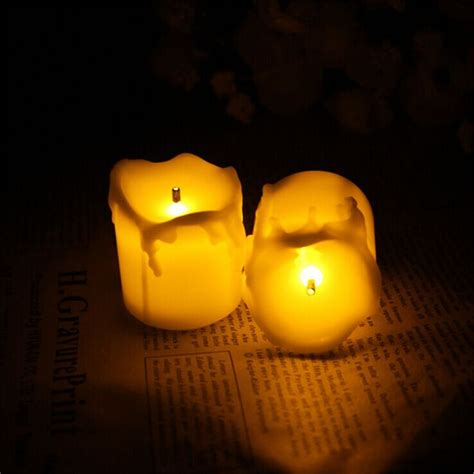 amber led tea lights 12pcs flameless candles with timer electric amber yellow