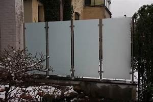 Edelstahl Sichtschutz Metall : wunderbar windschutz und sichtschutz aus edelstahl und glas in ~ Orissabook.com Haus und Dekorationen