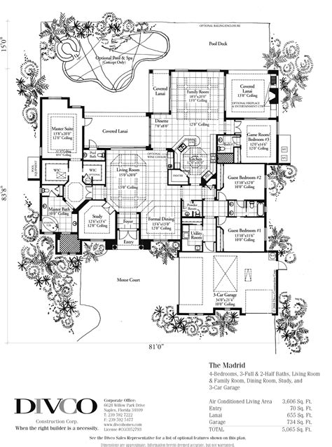 luxury custom home floor plans luxury home floor plans madrid floorplan floorplan of