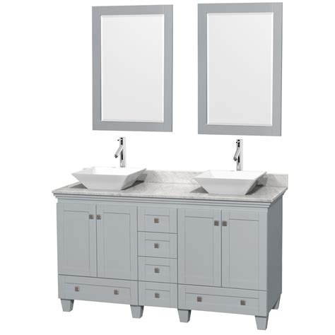 60 inch double sink vanity top accmilan 60 inch double sink bathroom vanity in grey
