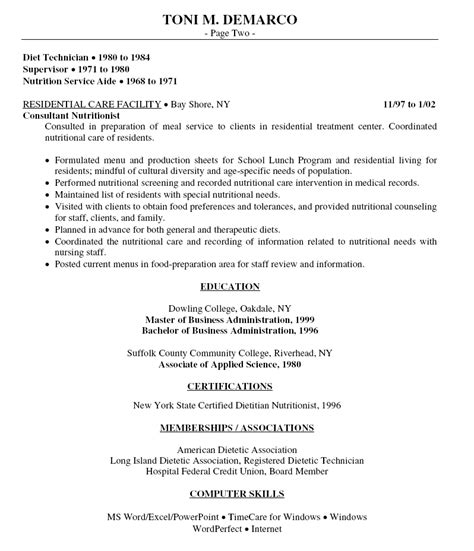 cv cuisine sle resume for food service assistant